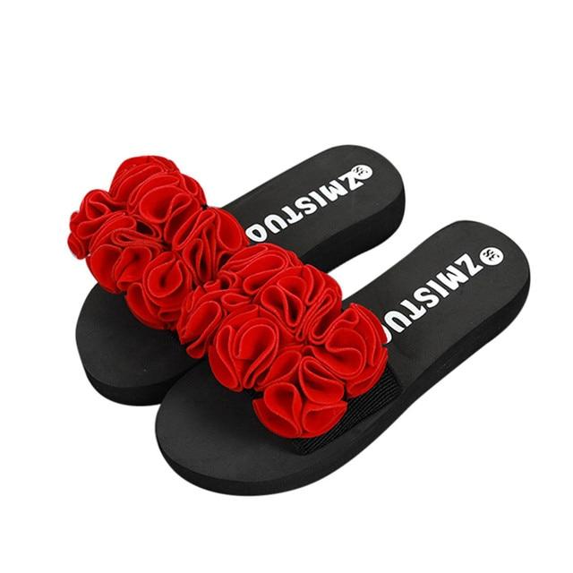 44ae30db Sleeper #5005 Women Outdoor Flip-flops Beach Shoes Flower decor Summer  Sandals Slipper Indoor