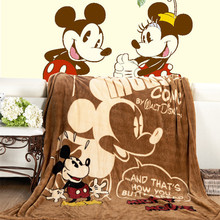 Disney Cartoon Soft Blanket Throw Four seasons mickey minnie for Children on Bed Sofa Couch Adult children kids girl boy gifts