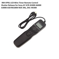 Lightdow RM-VPR1 LCD Timer Control Remoto del Cable Disparador Para Sony A7 A7R A3000 A5000 A6000 A58 RX100III NEX-3NL, DSC-HX300
