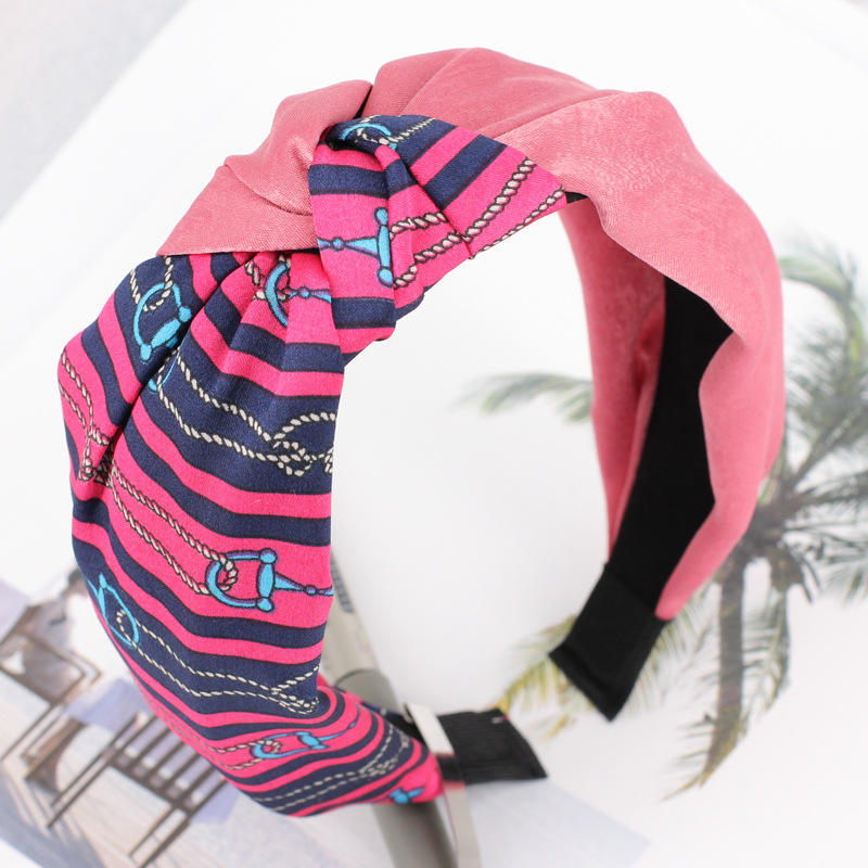 Hot Sale Sport Cloth Headbands for Women Print Stripe Hair bands for Women Good-Quality Hair accessories for women