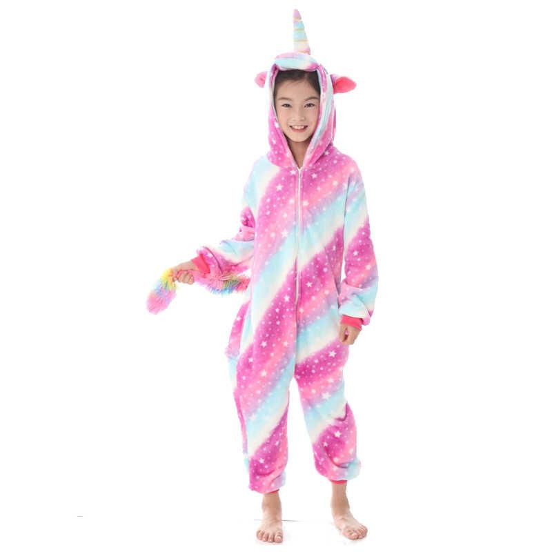 af48b169f ... Pijamas de los niños Kigurumi chicas unicornio Anime Panda mono de los  niños traje de niño ...