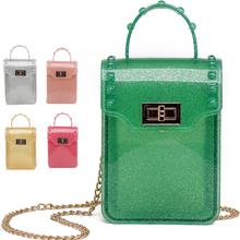 small transparent phone bag candy color summer clear jelly pink green mini hand bags for girls women yellow purse