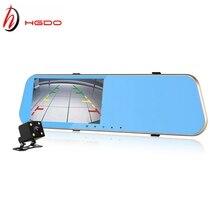 HGDO Car DVR Full HD rearview mirror camera 1080P 4 3 inch Dual lens auto dash