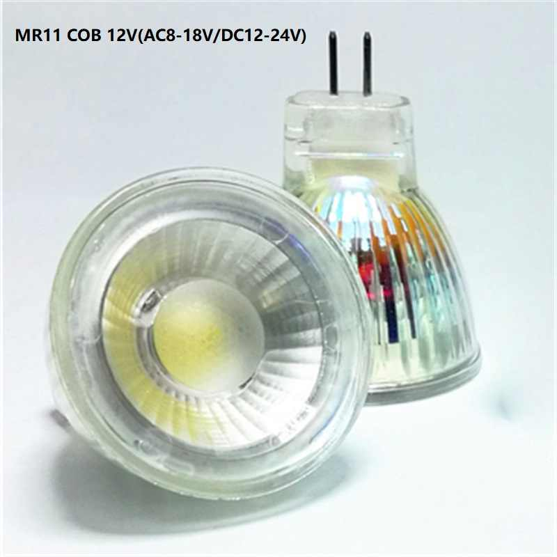 1-10PCS MR11 COB LED Light Bulb 35mm Diameter 7W AC DC 12V 110V 220V Dimmable Mini COB LED Warm/Cold White Mr11 Spotlight Bulb