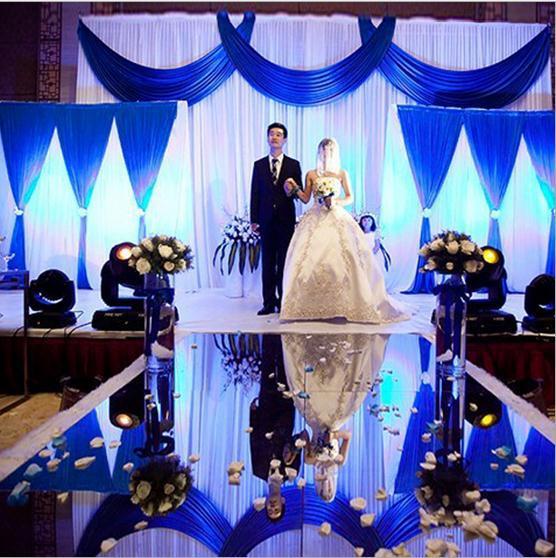Luxus Dekor Gold Silber doppelseitige Spiegel Teppich Gang Läufer - Partyartikel und Dekoration - Foto 4