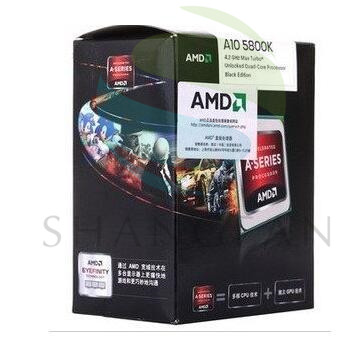 100% New AMD A-Series A10 5800 A10 5800K 3.8Ghz 100W Quad-Core CPU Processor AD580KWOA44HJ Socket FM2 with CPU cooling fan