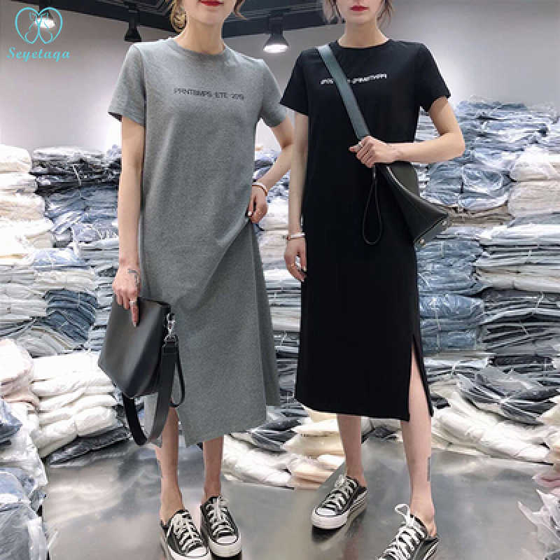 2885# Cotton Maternity Mother Nursing Long Tees Summer Casual Breastfeeding T-shirt for Women Postpartum Feeding T Shirt Tops