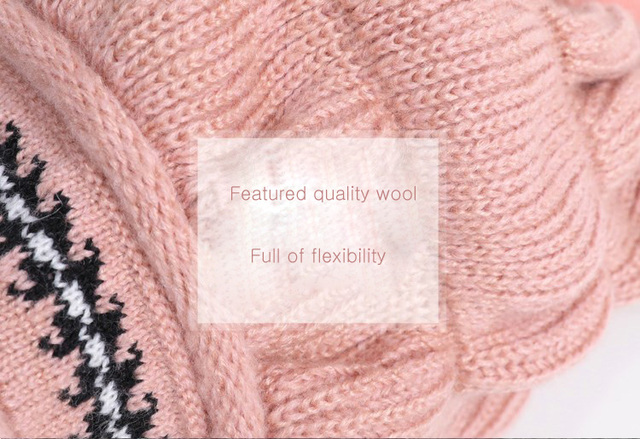 Thick Warm Manual Wool Knitted Earmuffs Soft Hats