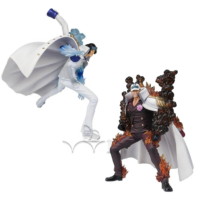 One Piece Zero Aokiji Battle Version Figuarts Akainu Battle figure one piece anime marine akainu sakazuki battle ver 18cm 7 figure free shipping