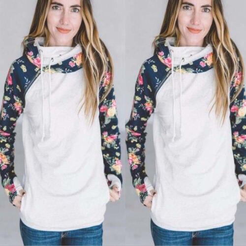 Fashion Women's Long Sleeve Hoodie Sweatshirt Warm Jumper Pullover Tops