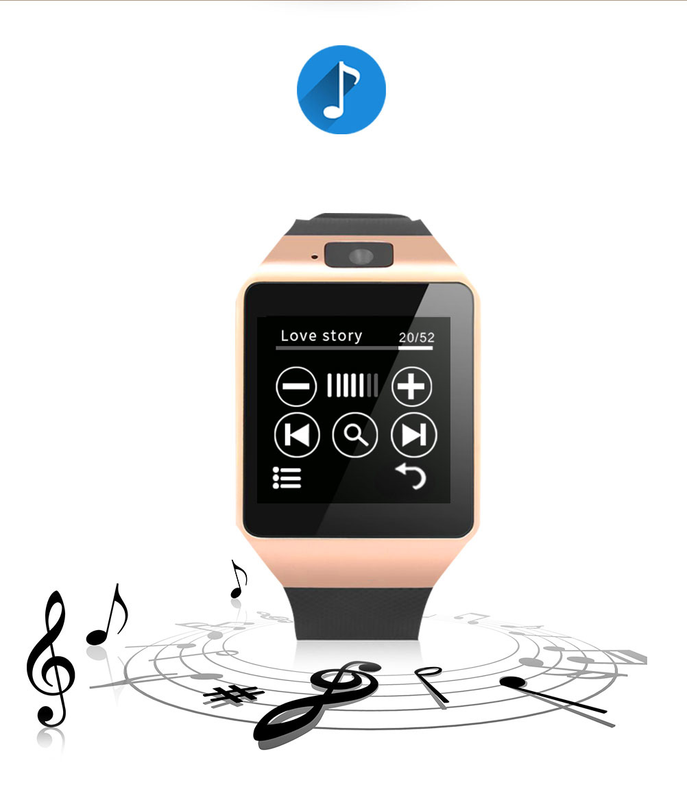 Smartwatch Bluetooth Montre Connectée Cawono Android Support Carte SIM