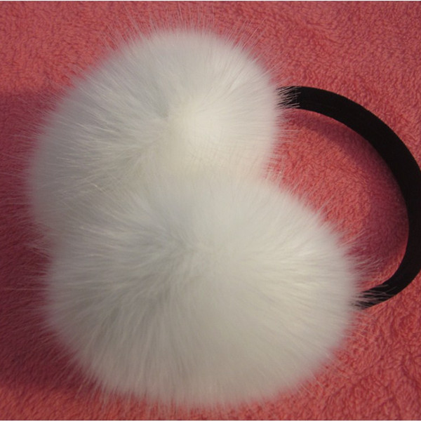 Winter & Spring & Autumn Women Warm Fur Earmuffs Girl's Earlap Ultralarge Imitation Rabbit Hair Earflap Ladie's Plush Ear Muff