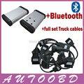 Самая низкая Цена! 2014.2 R2 Программное Обеспечение! новый vci с Bluetooth cdp Сканера TCS pro plus + полный 8 Грузовиков кабели для Авто OBD2-DHL Freeship