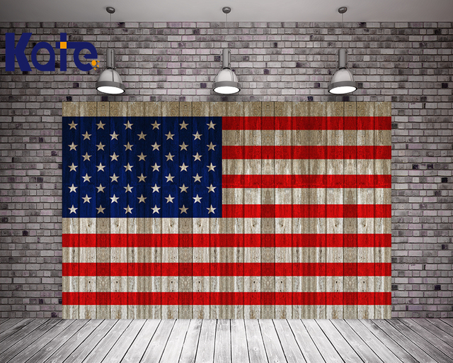 kate 10x10ft flag day photography backdrops with stars wood american