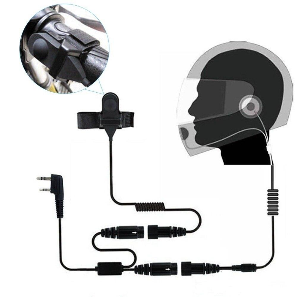 2 PIN Casque Portable Moto Course Contacter Casque Écouteur Pour Kenwood Baofeng Wallie Walkie à Deux Voies Radio