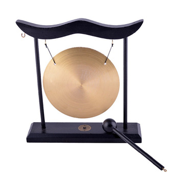 Feng Shui Brass Gong Desktop Zen Art FOR Fortune H1301