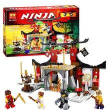 Ninja 10319 Duel Ninjutsu Driving Range Model constructing kits blocks suitable with legoe Educational toys kids