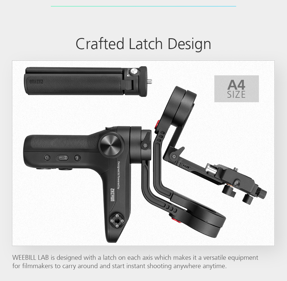 ZHIYUN Official Weebill LAB 3-Axis Image Transmission Stabilizer for Mirrorless Camera OLED Display Handheld Gimbal 5