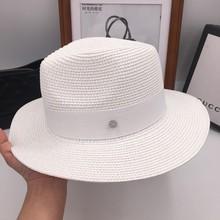 M a nova deusa verão ampla-Sir chapéu de Palha chapéu de aba feminino chapéu  de praia chapéu sombreamento do mar b5e1fc52bbb