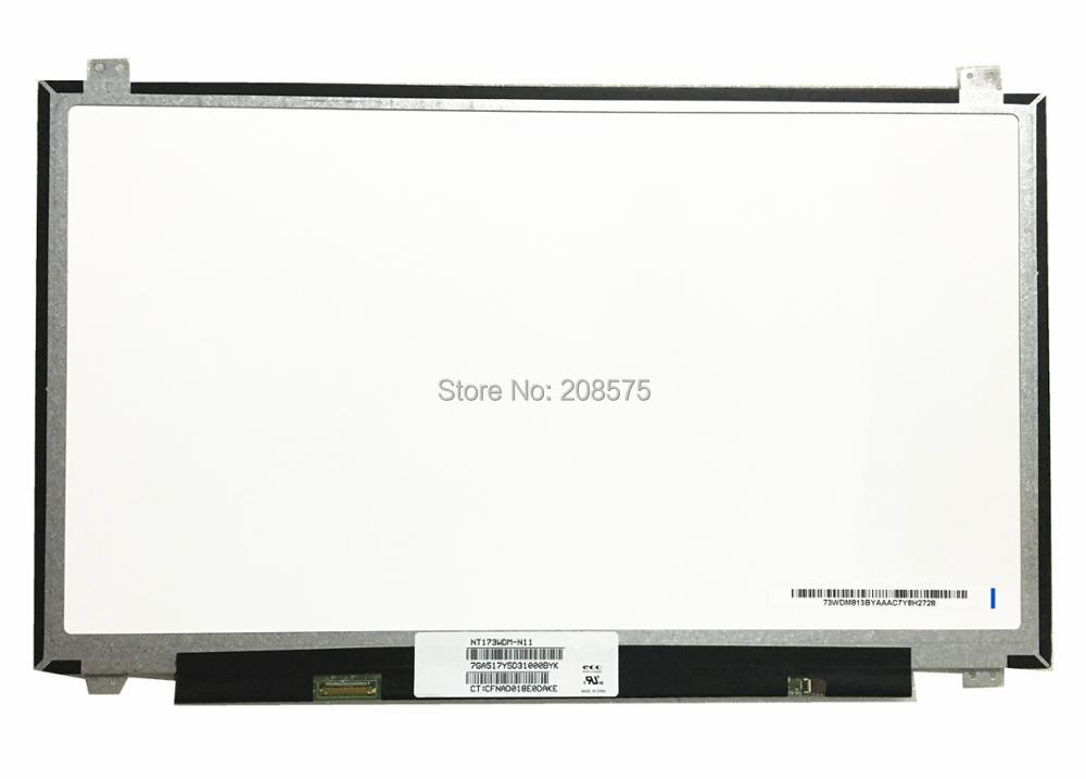 Free Shipping ! NT173WDM-N11 NT173WDM N11 NT173WDM-N21 B173RTN02.2 17.3''inch Laptop LCD LED Screen 1600*900 EDP 30pin gread a 14 lp140wd1 tpd1 fit b140rw01 v 2 ltn140kt02 for hp elitebook 8440p 1600 900 30pin edp led lcd screen panel