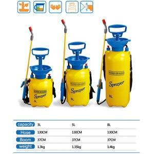 Image 2 - 3/5/8L Pressure Sprayer Compressed Air Spray Garden Sprayer Pump Hand Pressure Watering Spray Garden Irrigation Car Clean 2018