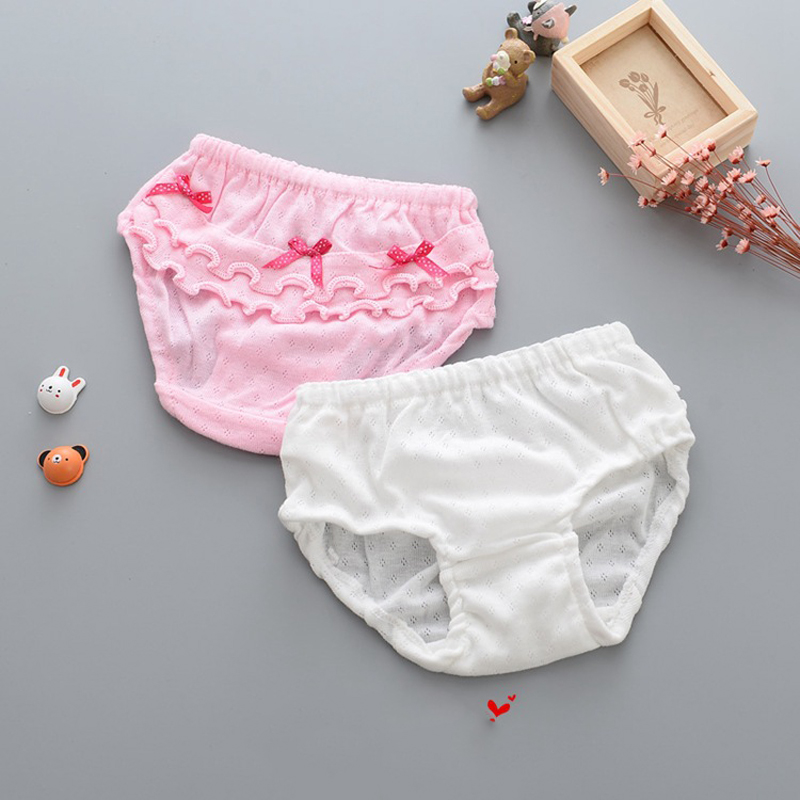 100% Katoen Zachte Baby Meisjes Ondergoed Strik Baby Slipje Voor Meisjes Baby Underpanties Slips Kinderen Zoete Prinses Ondergoed