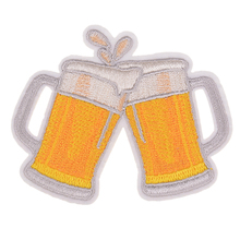 Clothing girls diy embroidery beer badge iron on patch deal with it biker patches for clothes stickers fabric