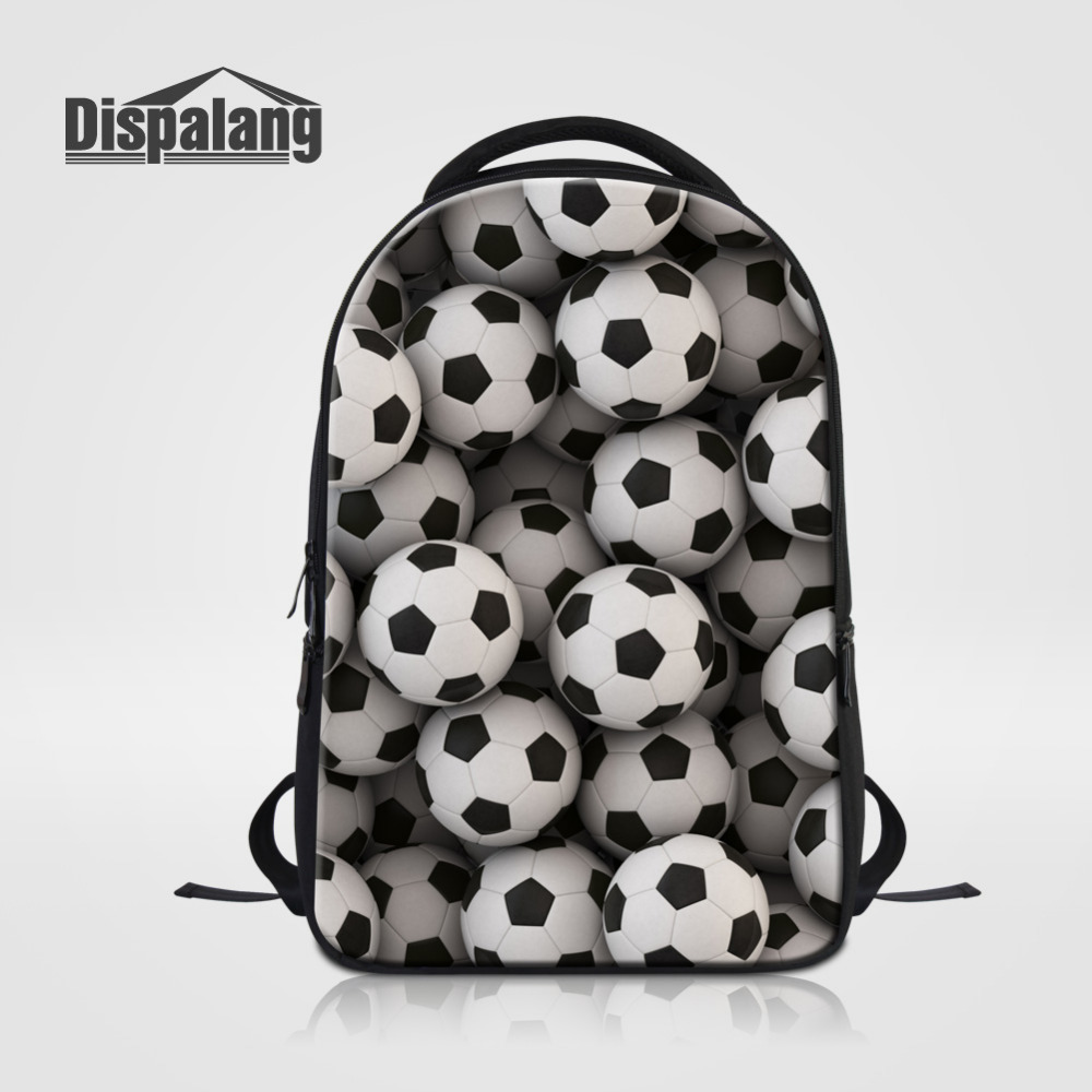 Dispalang Unisex Laptop Backpack Ball Printed School Bags For Teenagers 14 inch Business Travel Multifunction Notebook Backpacks laptop 14 15 inch notebook computer backpack men s travel black backpacks brand waterproof pu leather school bags for teenagers