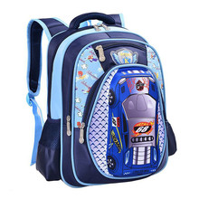 5D car styling children school bags for teenagers boys kids cartoon car backpack 16 inch book