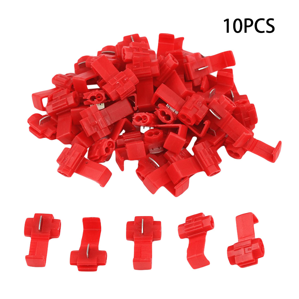 Franchise 10Pcs Low-priced Spare Product AWG22-18 Wire Terminals Quick Connector Cable Clamp Connection Clip #0523