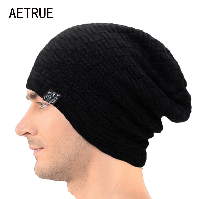 New Winter Hat Men Knitted Beanies Warm Bonnet Caps Baggy Brand Solid Thicken Fur Winter Hats For Men Women Wool Skullies Beanie brand skullies winter hats for men bonnet beanies knitted winter hat caps beanie warm baggy cap gorros touca hat 2016 kc010