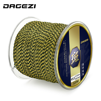 DAGEZI 500m Multifilament Fishing Line For Carp Fishing Tackle Super Strong 4 Strand PE Braided Fishing Line 25 30 40 50 80LB
