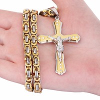 Christian Jesus Cross Crystal Necklace 5