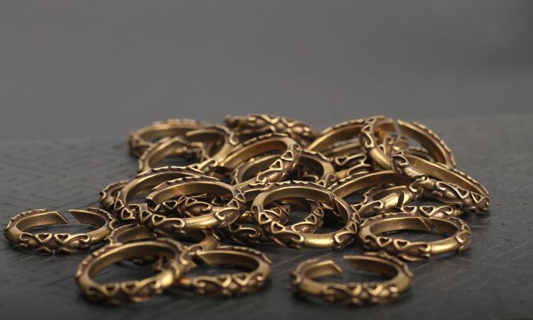 copper key rings (9)