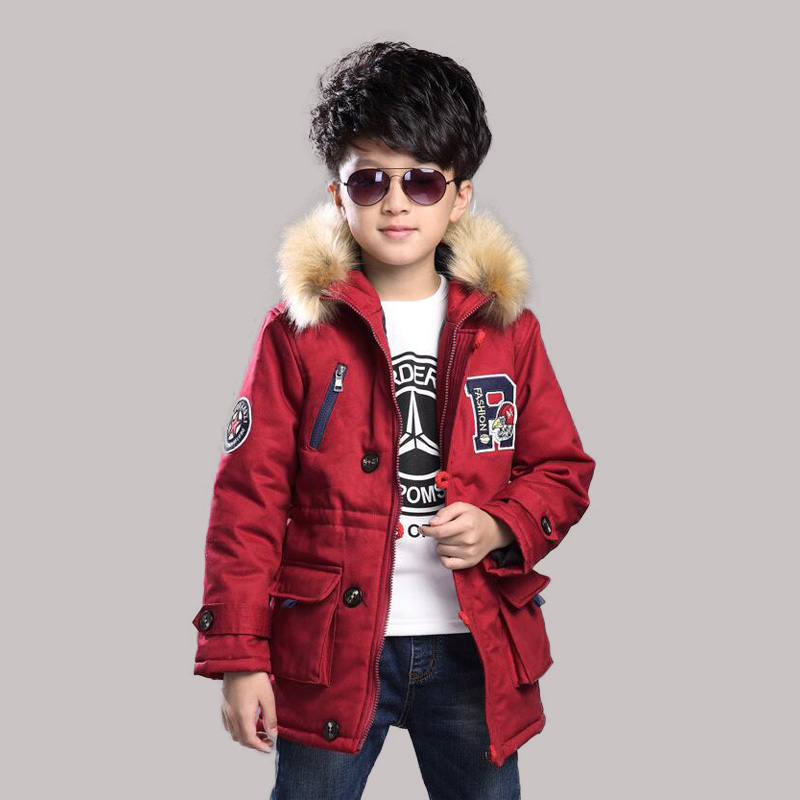 2016 Boys Jackets Coat Faux Fur Hooded Jackets Parkas Thick Winter Warm Children Outerwear Clothes Kids Clothing Q2093 цена 2017