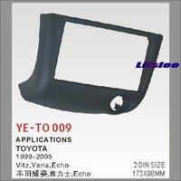Liislee Car Stereo Radio ABS Fascia Plate Panel Frame Kit Stereo Facia Surround Install Trim Fit Dash For Toyota Vitz 1999~2005