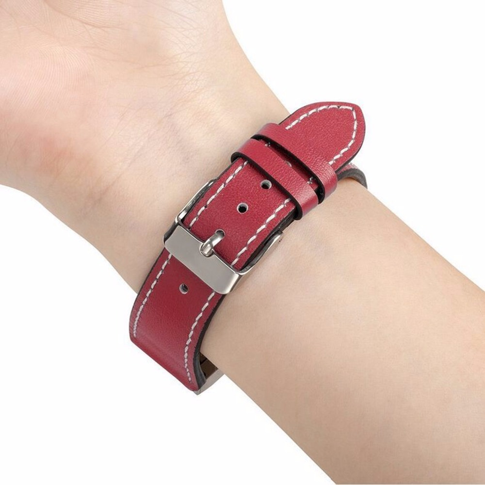CRESTED watch band strap for fitbit charge 2 band leather bracelet strap for fitbit charge 2 with metal Stainless steel adaptor stainless steel watch band wrist strap for fitbit alta hr fitbit alta metal watchband fitbit alta fitbit alta hr metal band