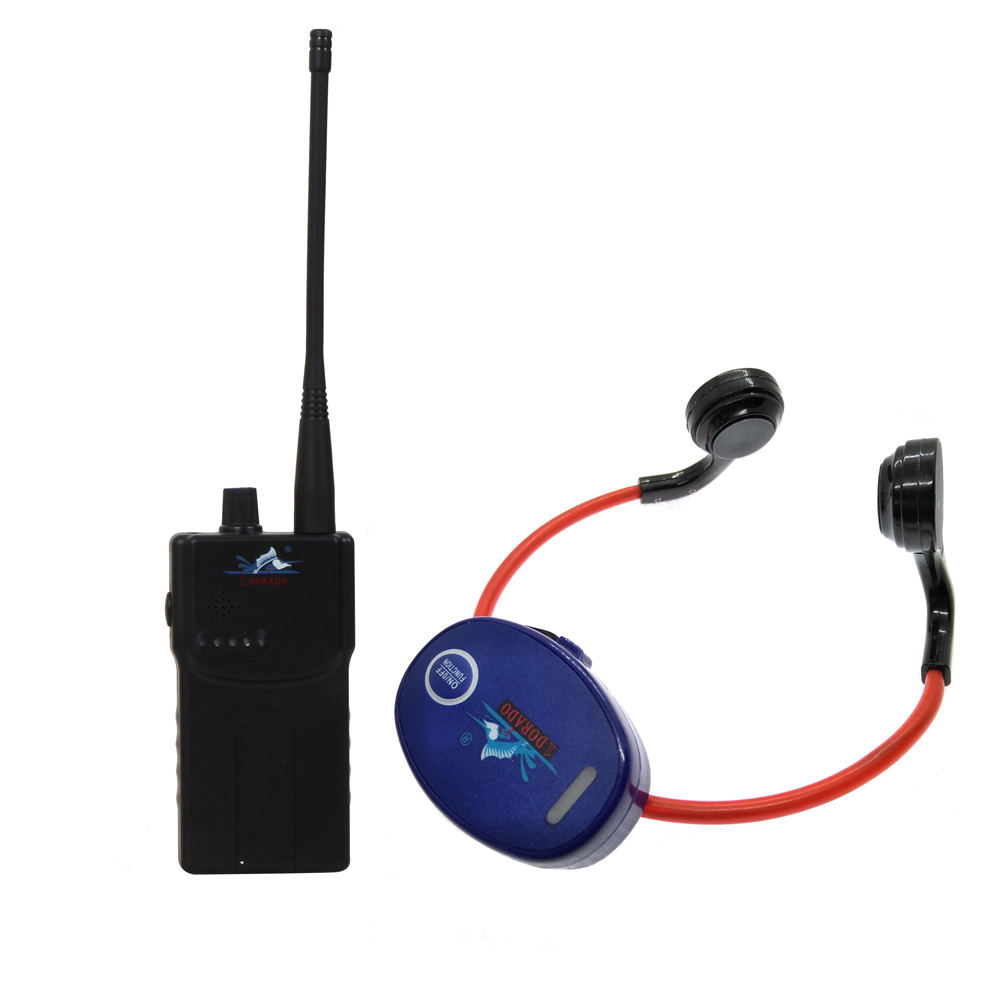 Transmitting System Waterproof Bone Conduction Receiver With 1 Walkie Talkie + 20 Waterproof Headphone Receivers+1 Microphone