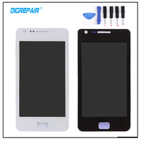 Black White For Samsung Galaxy S2 S II I9100 LCD Display Touch Screen Digitizer Assembly Replacement