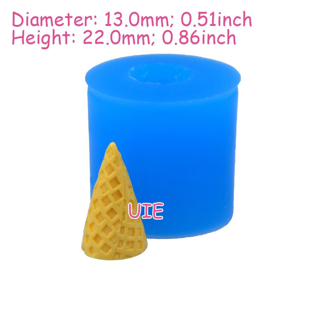 XYL142U 22mm 3D cono de helado molde de silicona-fondant, Decoración ...