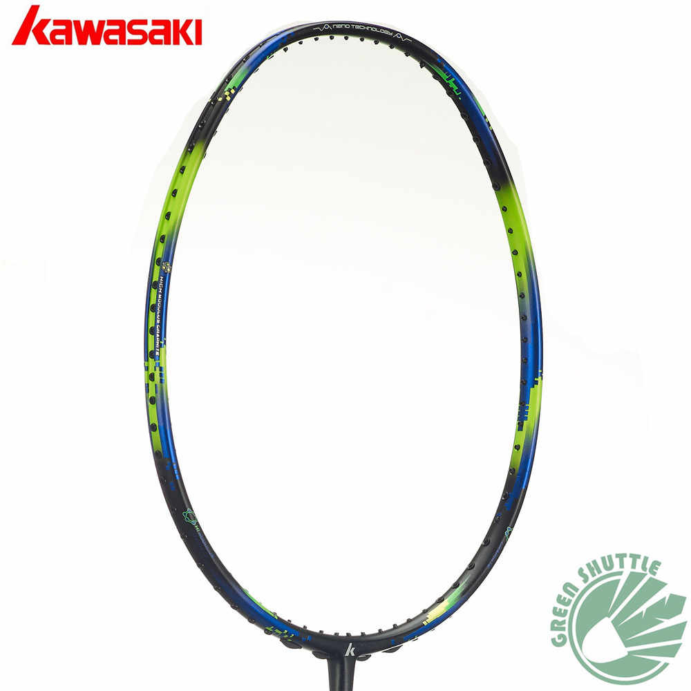 Only 73g 6U Kawasaki Super Light 680 580 Badminton Racquet 30T Aerofoil Frame Badminton Racket 100% carbon With Free Grip
