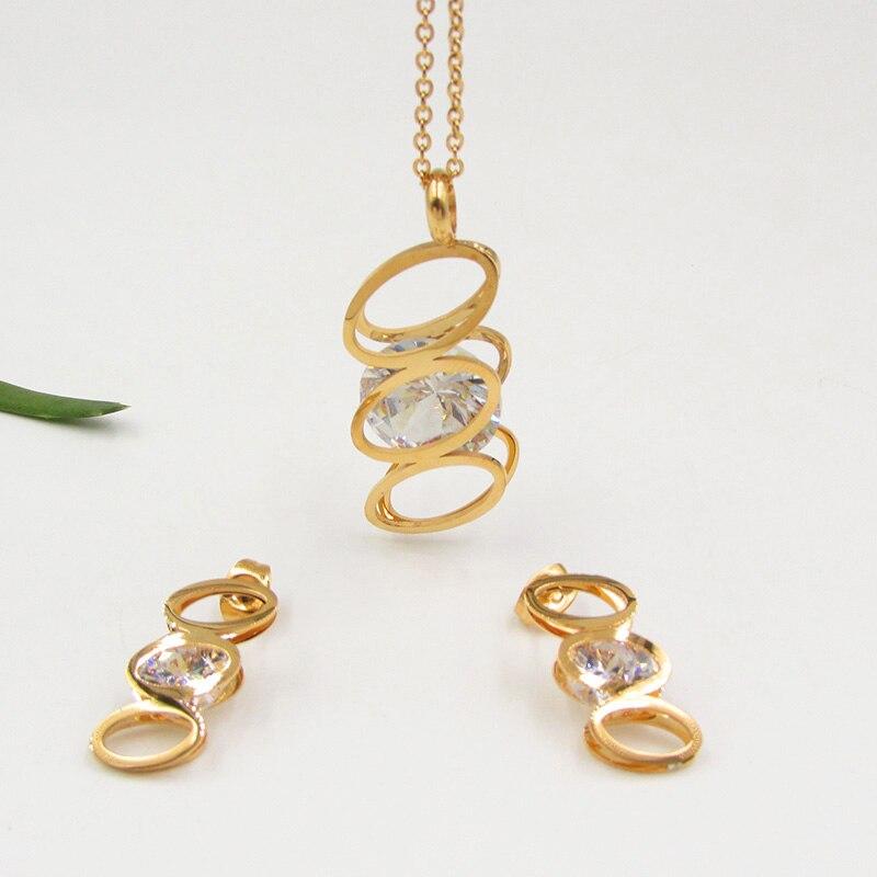 dubai mujeres novia de la boda aretes collar de conjuntos de joyas de oro africano set joyera del partido de diseo italia