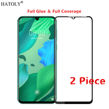 2Pcs Huawei Nova 5 Pro Glass Tempered for Film Full Glue Cover Phone Screen Protector