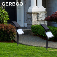Solar panel LED Spike Spot Light Spotlight Landscape Garden Yard Path Lawn Solar Lamps Outdoor Grounding Sun Light
