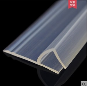 Image 2 - 2 Meter/lot Widened F/h shape silicone rubber shower room door window glass seal strip weatherstrip for 6/8/10/12 mm glass