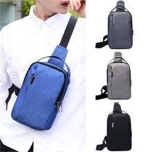 Chest bag Men Small Bag Wild Messenger Fashion One Shoulder Plaid Belt