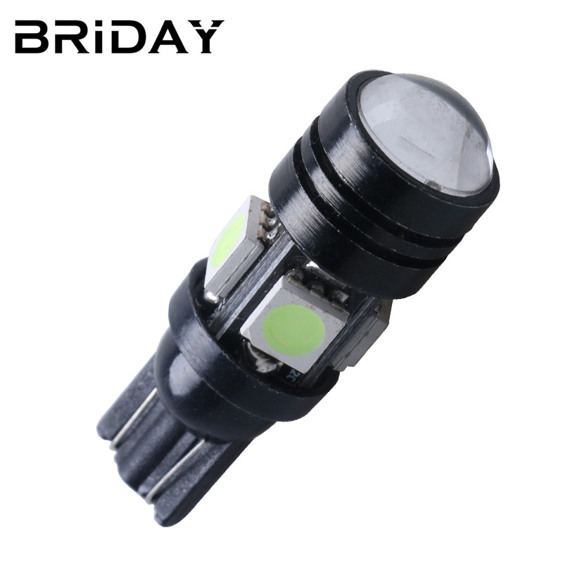 2PCS T10 W5W Car led 5050 4smd clearance lights license plate led Bulbs daytime running lamp