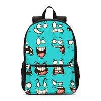 VEEVANV Backpacks Boys Girls Cute Cartoon Emoji 3D Printed School Bag Teenager Children Bookbag Satchel Rucksack Mochila Escolar