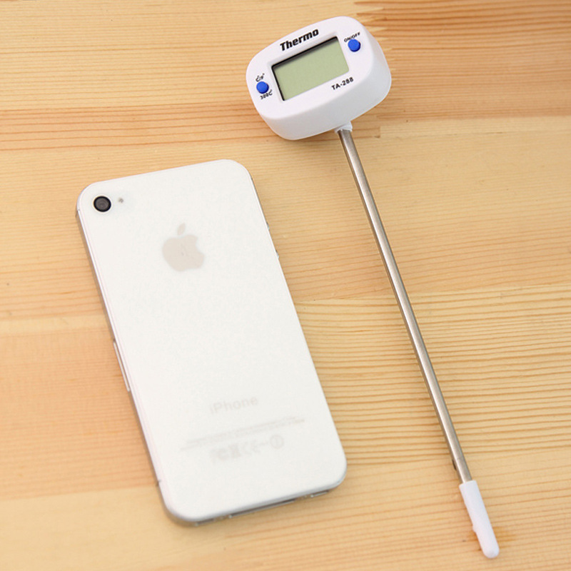 1PCS Digital Food Thermometer for Water Milk and BBQ Meat with 180 degrees Adjustable Head 15