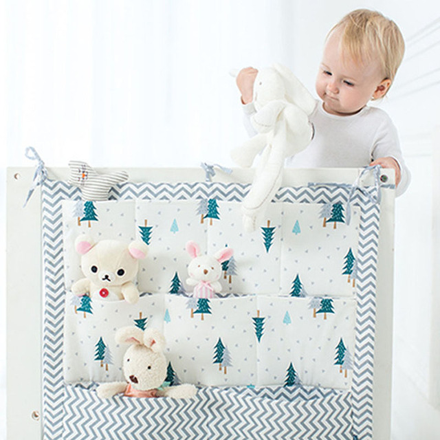 6a7bffc09dec Baby Bed Hanging Storage Bag Cartoon 3 Layers Bed Crib Organizer Bags 100%  Cotton Bottle Diaper Pocket for Newborn Bedding Set-in Bedding Sets from ...